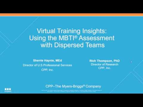 Virtual Training Insights: Using the MBTI® Assessment with ...
