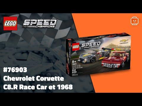 Vidéo LEGO Speed Champions 76903 : Chevrolet Corvette C8.R Race Car et 1968 Chevrolet Corvette
