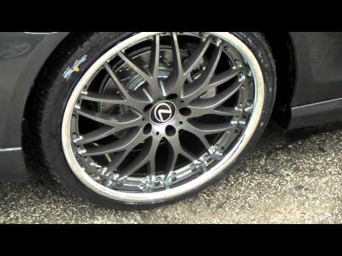 20 Inch Vertini Riviera Custom Wheels Rims 2006 Lexus GS400 Paint w/ Chrome Lip Staggered Lexus Rims