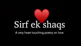 Sirf ek shaqs - Best poetry on love Ft. Anubhav   - YouTube