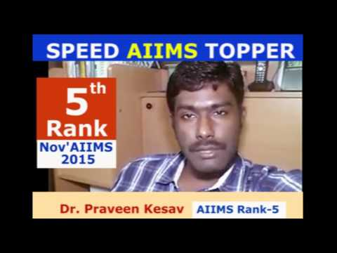 AIIMS NOV'15 Rank 5