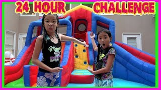 24 HOUR CHALLENGE OVERNIGHT In WATER PARK with Ryan