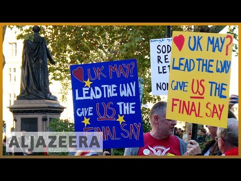 🇬🇧 Anti-Brexit protesters gather to demand second referendum | Al Jazeera English