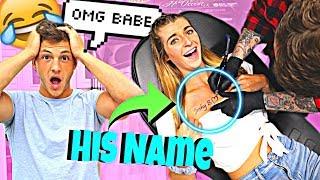 I GOT A TATTOO OF MY BOYFRIEND'S NAME PRANK!