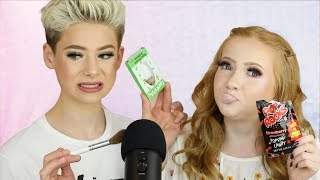 I TRIED ASMR AGAIN!... Eating Crickets with Life With Mak