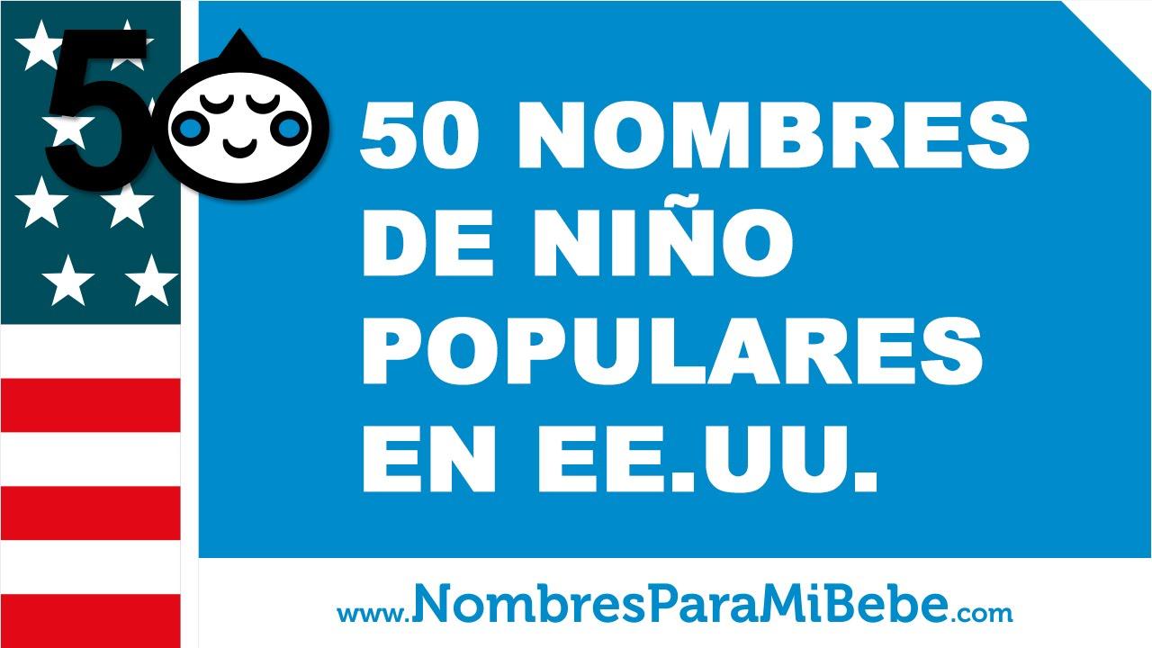 50 nombres de bebés para niños populares en EE.UU. - www.nombresparamibebe.com