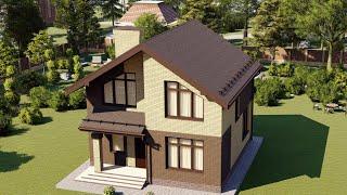 Проект дома 104-A, Площадь дома: 104 м2, Размер дома:  8,8x9 м