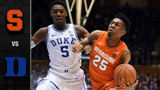 Syracuse vs. Duke Basketball Highlight (2018-19)