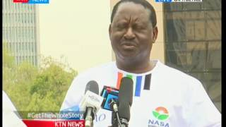 NASA flag bearer Raila Odinga assures Kenyans of a free and fair elections in August