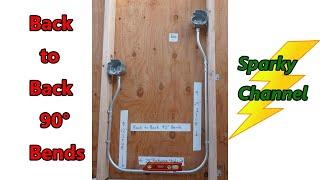 How to Make Back to Back 90° EMT Bends
