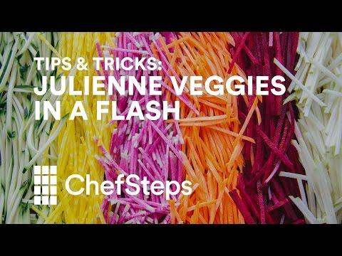 Julienne Fruits And Vegetables A Lot Faster With A Mandoline