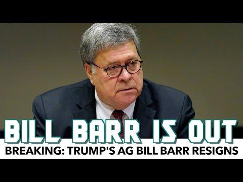 Breaking: Trump's AG Bill Barr Resigns