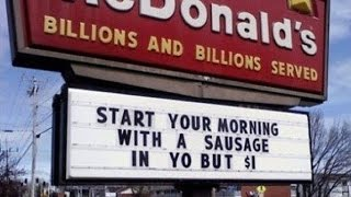 Most Hilarious And Funny Fast Food Signs Fails Around The World