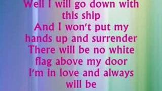 Dido - White Flag with Lyrics