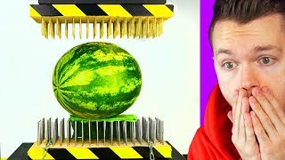 WATERMELON VS HYDRAULIC PRESS EXPERIMENT! You Won't Believe What Happened