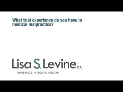 What trial experience does Lisa Levine have in medical malpractice?