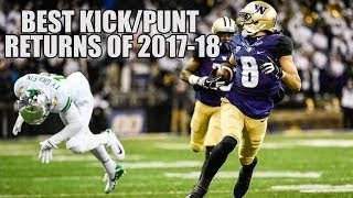 College Football Best Kick/Punt Returns of the 2017-18 Season ᴴᴰ