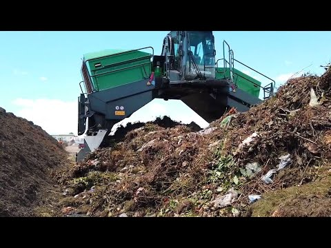 Komptech Topturn X6000 Compost Windrow Turner - Biowaste Compost