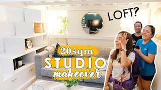 20sqm Studio Loft Condo Makeover | Small Space Living Tips