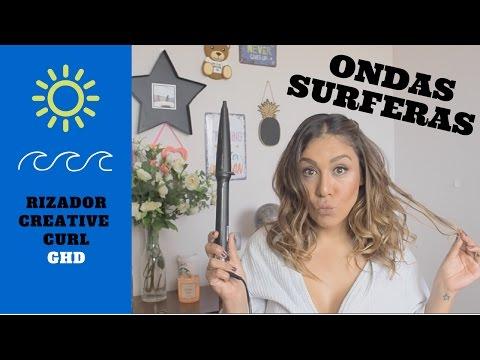 TUTORIAL ONDAS SURFERAS con Rizador Creative Curl de GHD