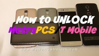 How to Unlock LG Aristo or any MetroPCS/T-Mobile Phone
