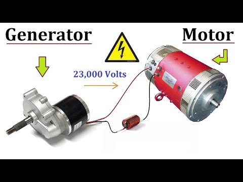 24V DC Motor to 220V Electric Generator 120W at Low RPM - Amazing Idea DIY