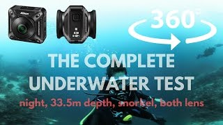 [360 VR] Nikon Keymission 360 underwater test - 30m dive, night dive, 5m depth, snorkel, etc