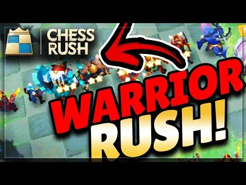 CHESS RUSH! The Ultimate Warrior Build! Gameplay/Strategy