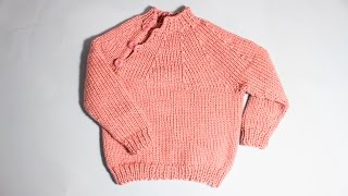 How to knit an easy baby  sweater from 1 year old WIKA Crochet