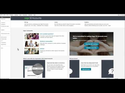 Sage 50 Tutorial - Introduction - Free Sage 50 Course - YouTube