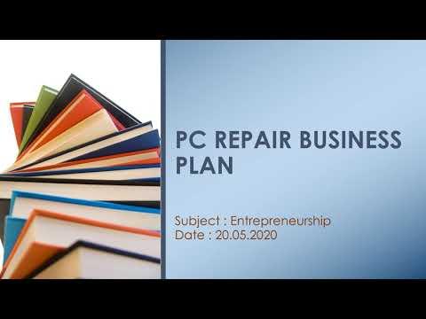 , title : '#PC Repair Business Plan