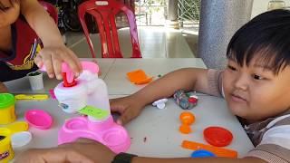 Learn Colors Kid toy ice cream with clay Play doh - الأطفال يلعبون الآيس كريم دوه ✔