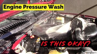 Pressure Washing Your Cars Engine