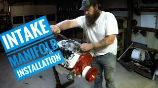 How to install intake manifold on a small block Chevy