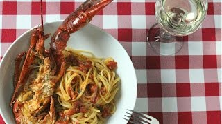 Linguine with Lobster Sauce -  Rossella's Cooking with Nonna