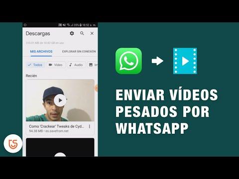 enviar vídeos/audios pesados por whatsapp