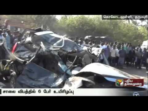 Six-killed-in-a-car-accident-at-Dharmapuri