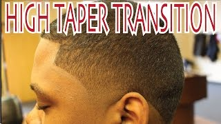 HIGH TAPER HAIRCUT TRANSITION FROM MOHAWK | Step by Step Barber Techniques