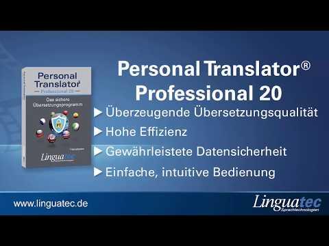 Übersetzungssoftware Personal Translator 20 von Linguatec – Professional, Net und Intranet