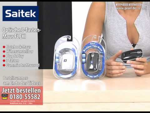 Saitek optische 3-Tasten-Maus FLEXI WIRELESS, mit Nano-Receiver