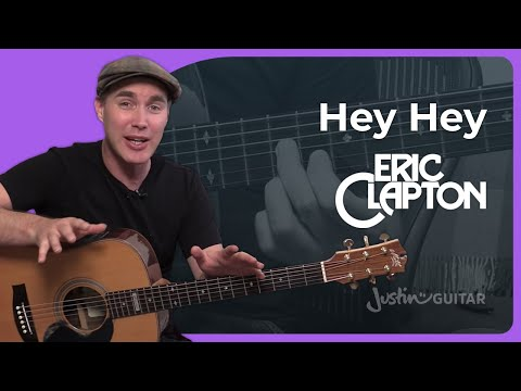 Hey Hey - Eric Clapton Unplugged - Guitar Lesson Tutorial Acoustic Blues