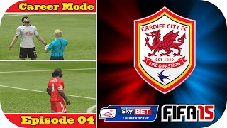 preview picture of video 'FIFA 15   Cardiff City Career Mode   Episode #4   Derby County Home!'