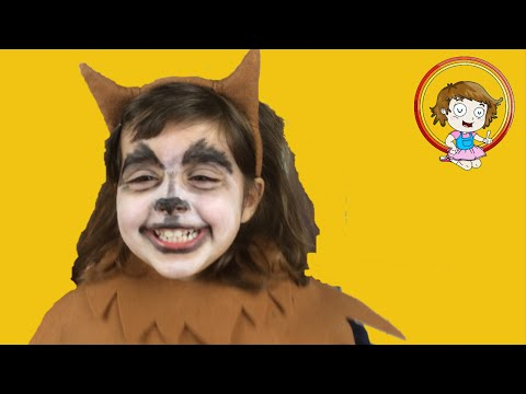 Disfraz niña lobo aterroriza a bebe disfraz cerdito