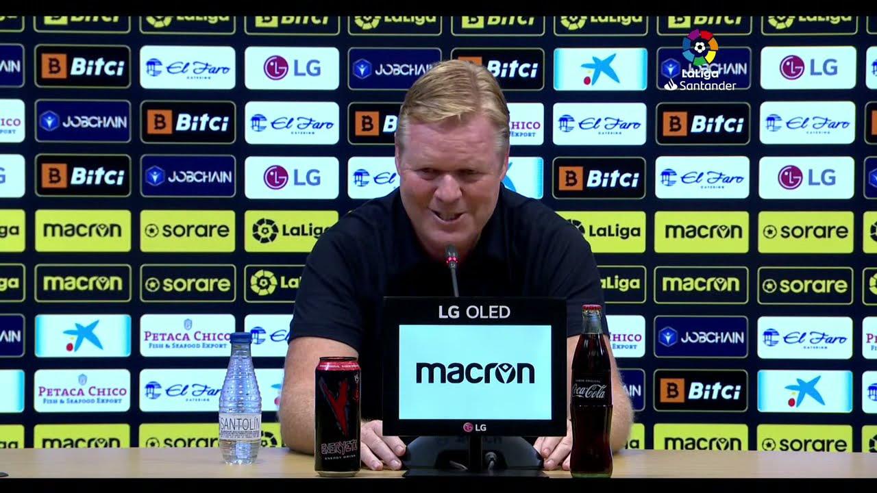 Rueda de prensa Cádiz CF vs FC Barcelona