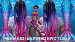 Mermaid Knotless Box Braids