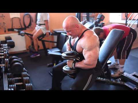 Zestaw ćwiczeń w siłowni na grupach mięśniowych