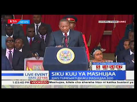 President Uhuru Kenyatta reminds Kenyans of the Jubilee government's track record