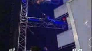 Jeff Hardy dropped a death-defying Swanton Bomb onto the WWE