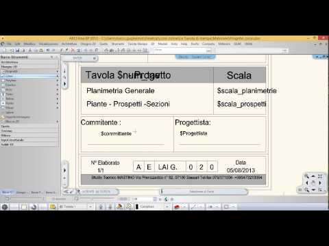 Gestione variabili testo nei cartigli - Cadline Software