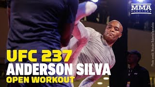 UFC 237: Anderson Silva Open Workout Highlights   MMA Fighting